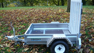 CONWAY ARE PROUD TO PRESENT THE NEW MP750 TRAILER.     IDEAL FOR QUAD BIKES, BIKES, GARDENING.    LIGHTWEIGHT & LOW LOADING